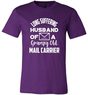 Postal Worker Tees Unisex Tshirt Team Purple / S Long suffering husband  Tshirt
