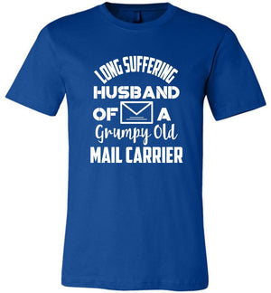 Postal Worker Tees Unisex Tshirt True Royal / S Long suffering husband  Tshirt