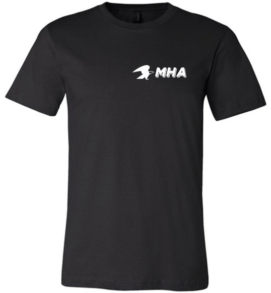 Postal Worker Tees Unisex Tshirt Black / S Mailhandler Assistant MHA left chest design Tshirt