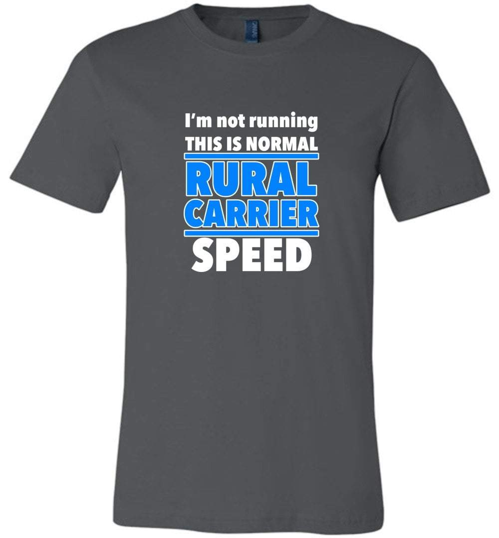 Postal Worker Tees Unisex Tshirt Asphalt / S Normal rural carrier speed Tshirt