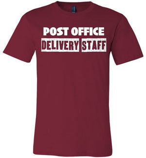 Postal Worker Tees Unisex Tshirt Cardinal / S Post office delivery staff Tshirt