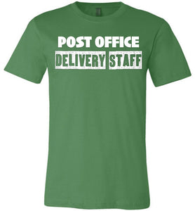 Postal Worker Tees Unisex Tshirt Leaf / S Post office delivery staff Tshirt