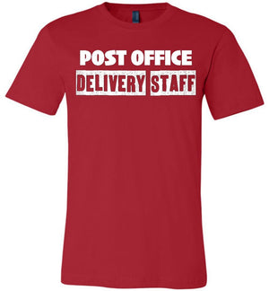 Postal Worker Tees Unisex Tshirt Red / S Post office delivery staff Tshirt