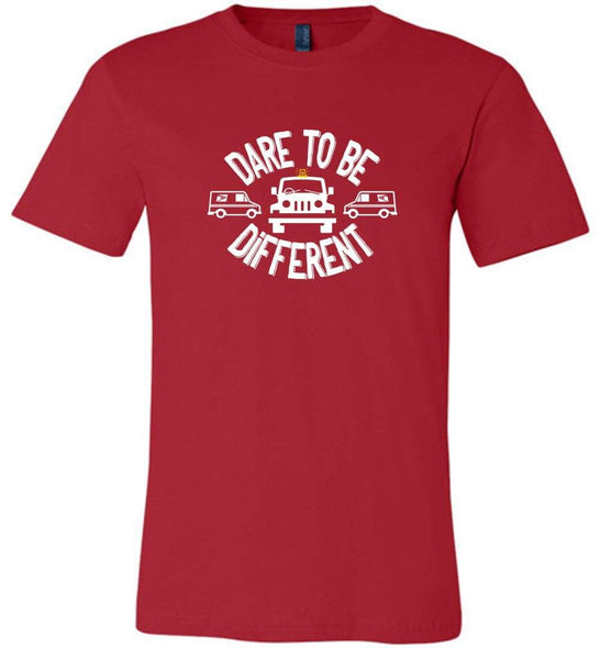 Postal Worker Tees Unisex Tshirt Red / S Postal Jeep Dare to be different Tshirt
