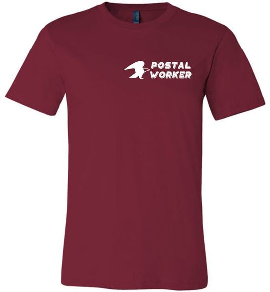 Postal Worker Tees Unisex Tshirt Cardinal / S Postal Worker left chest eagle design Tshirt