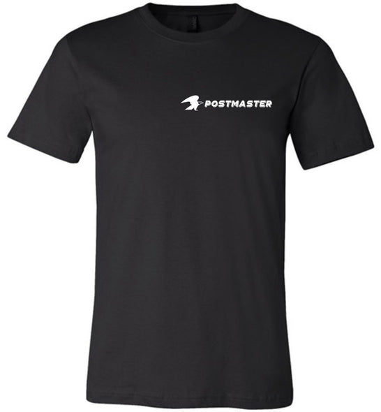 Postal Worker Tees Unisex Tshirt Black / S Postmaster Left chest design with eagle Tshirt
