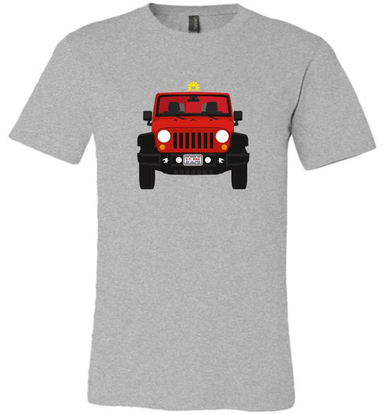 Postal Worker Tees Unisex Tshirt Athletic Heather / S Red Rural Carrier Mail Jeep Tshirt