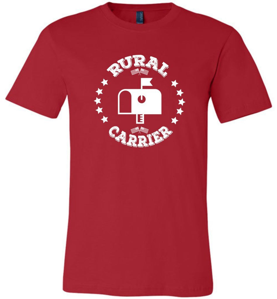 Postal Worker Tees Unisex Tshirt Red / S Rural Carrier Flags and Stars Tshirt
