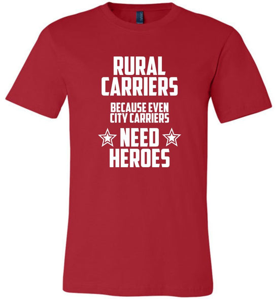 Postal Worker Tees Unisex Tshirt Red / S Rural Carrier Heroes Tshirt