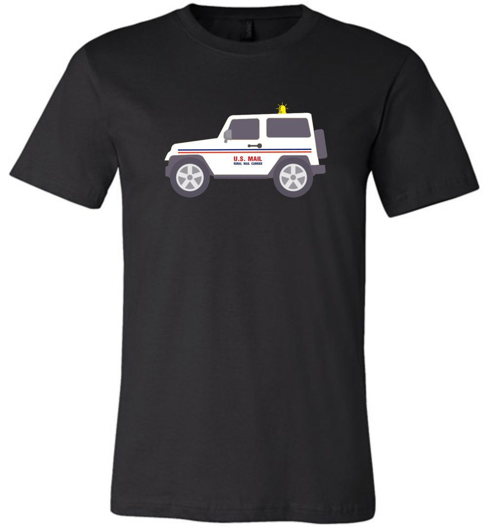 Postal Worker Tees Unisex Tshirt Black / S Rural Carrier Mail Jeep Tshirt