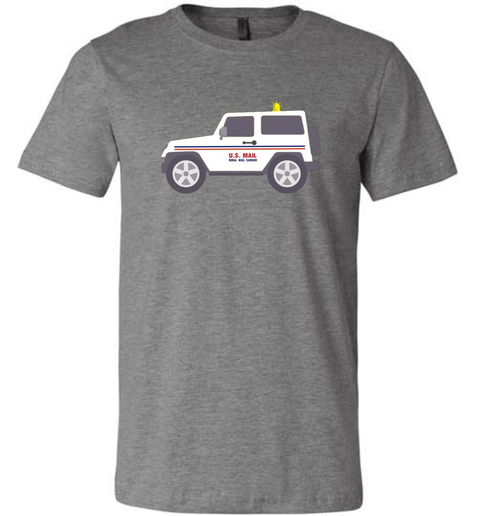 Postal Worker Tees Unisex Tshirt Deep Heather / S Rural Carrier Mail Jeep Tshirt