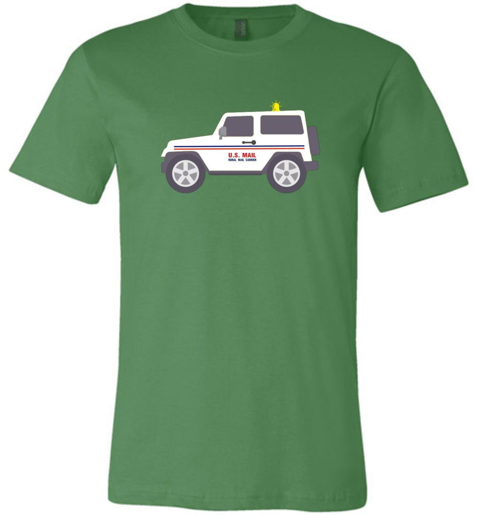 Postal Worker Tees Unisex Tshirt Leaf / S Rural Carrier Mail Jeep Tshirt