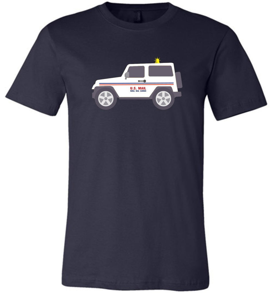 Postal Worker Tees Unisex Tshirt Navy / S Rural Carrier Mail Jeep Tshirt