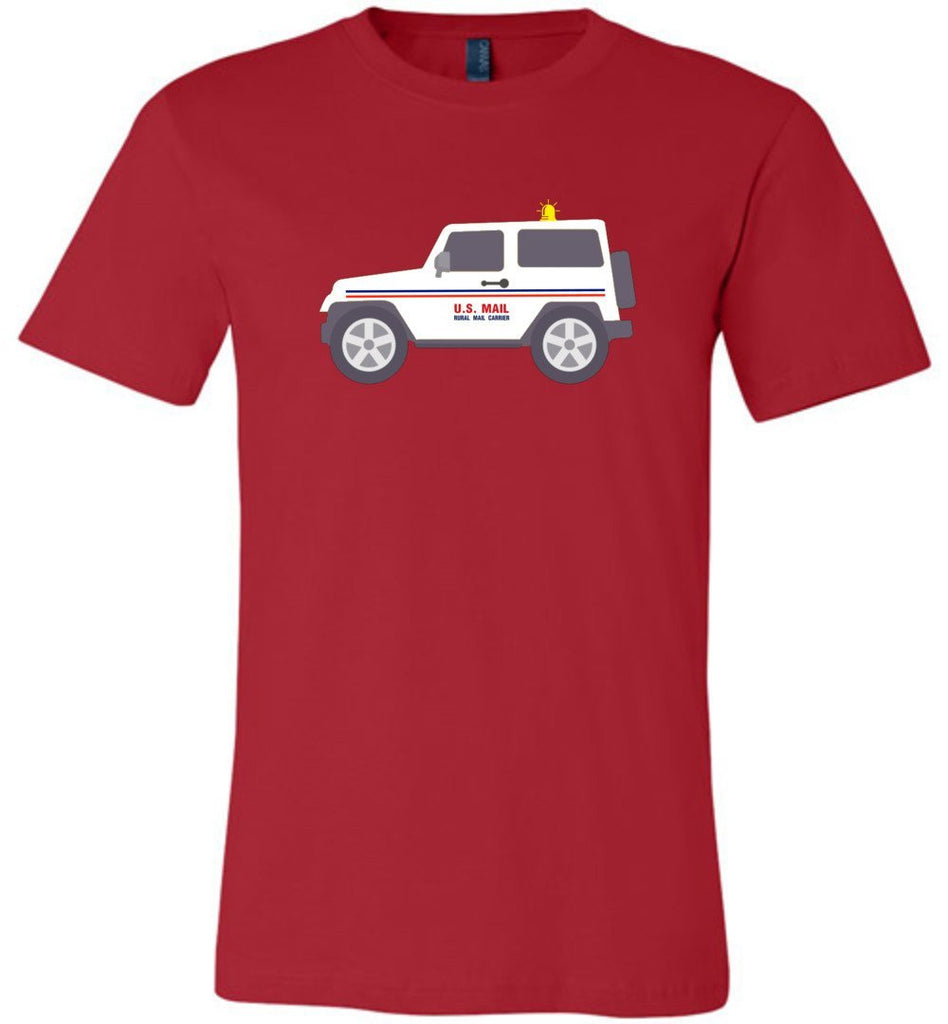 Postal Worker Tees Unisex Tshirt Red / S Rural Carrier Mail Jeep Tshirt