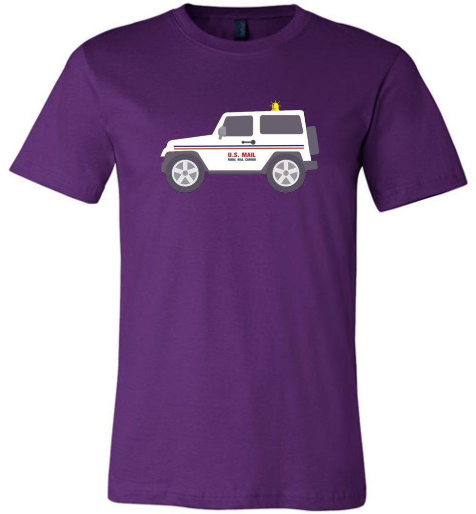 Postal Worker Tees Unisex Tshirt Team Purple / S Rural Carrier Mail Jeep Tshirt