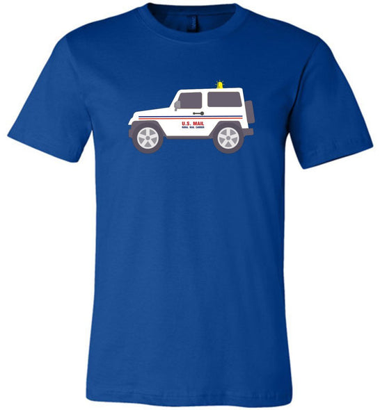 Postal Worker Tees Unisex Tshirt True Royal / S Rural Carrier Mail Jeep Tshirt