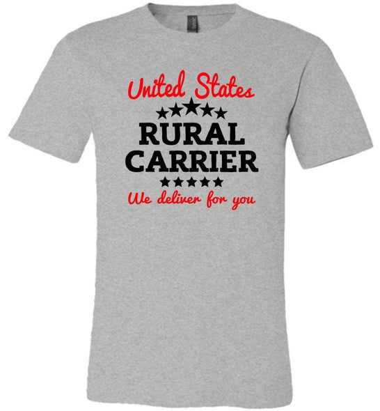 Postal Worker Tees Unisex Tshirt Athletic Heather / S Rural Carrier We deliver for you Tshirt