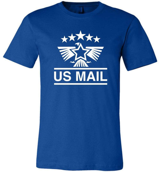 Postal Worker Tees Unisex Tshirt True Royal / S US Mail Eagles and stars Tshirt