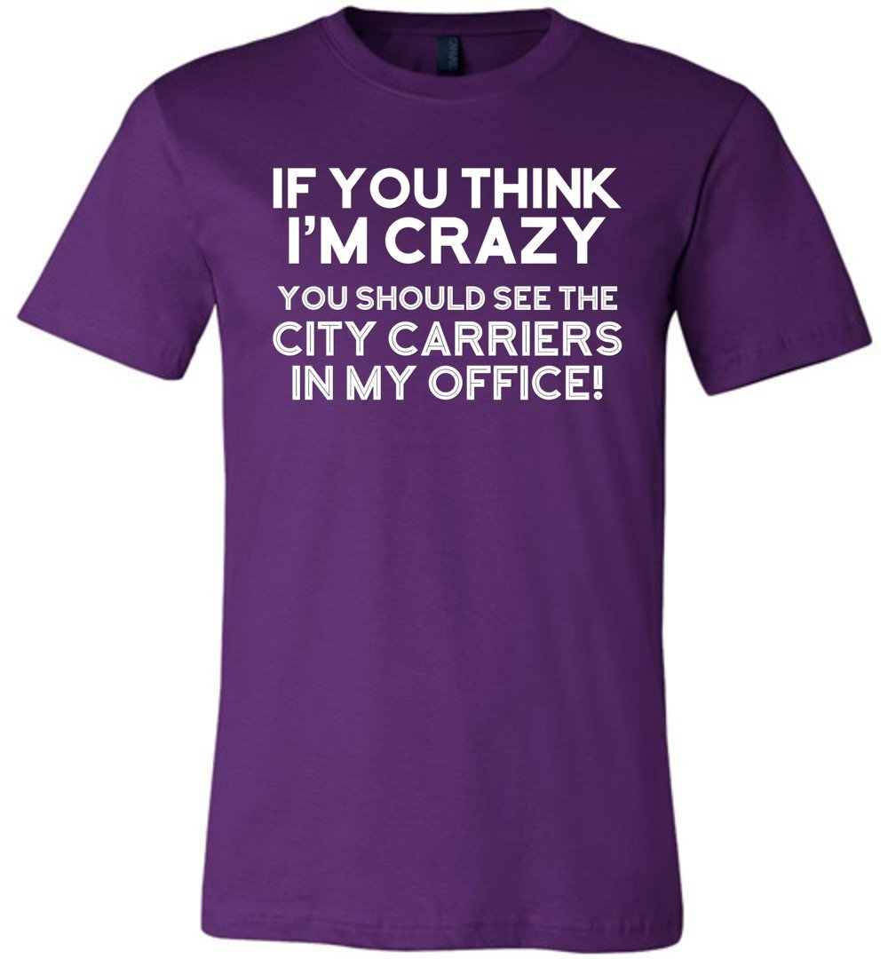 Postal Worker Tees Unisex Tshirt Team Purple / S You should see the city carriers Tshirt