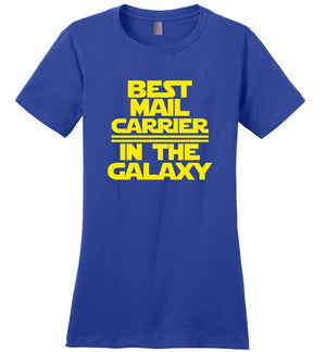 Postal Worker Tees Women's Deep Royal / S Best Mail Carrier in the Galaxy Women's Tshirt