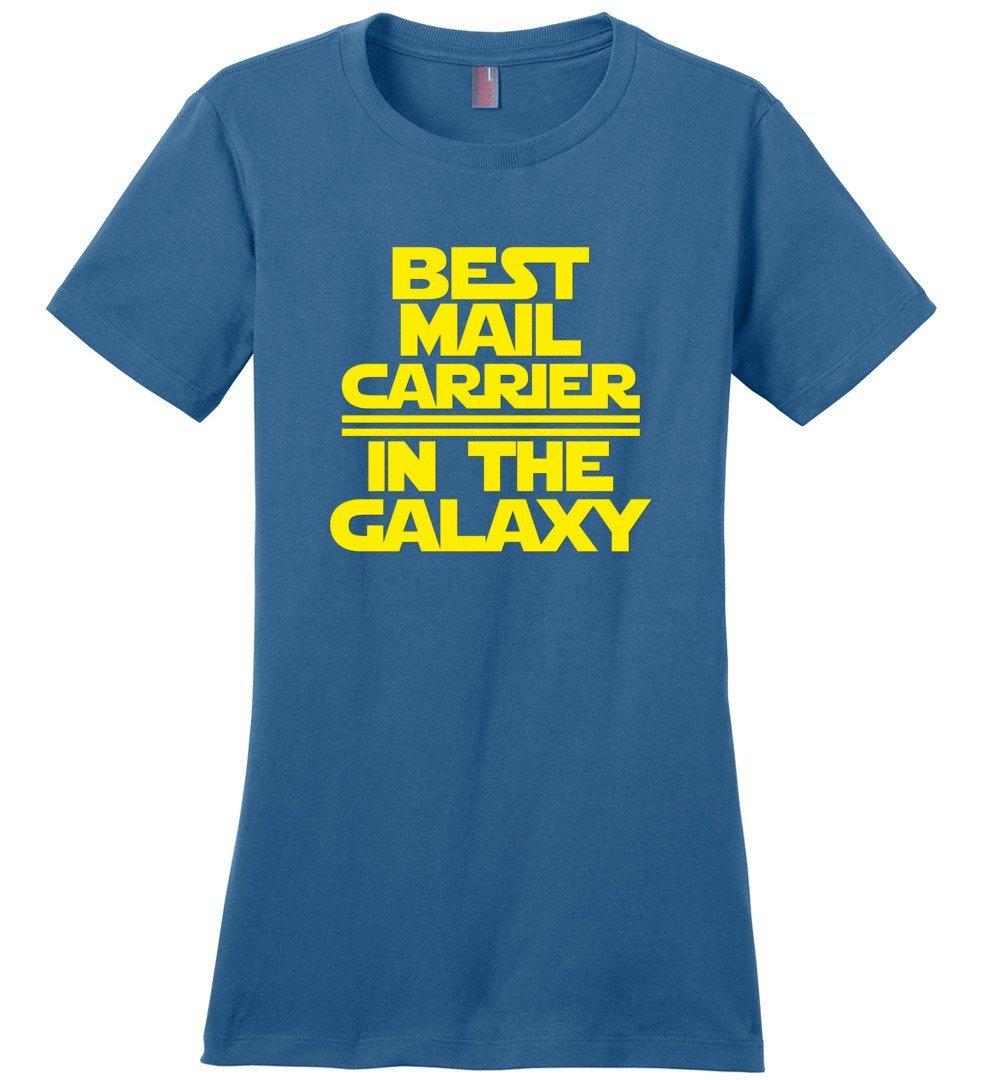 Postal Worker Tees Women's Maritime Blue / S Best Mail Carrier in the Galaxy Women's Tshirt