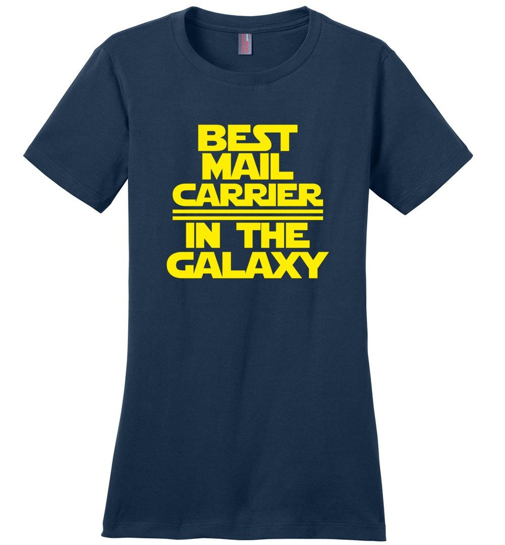 Postal Worker Tees Women's Navy / S Best Mail Carrier in the Galaxy Women's Tshirt