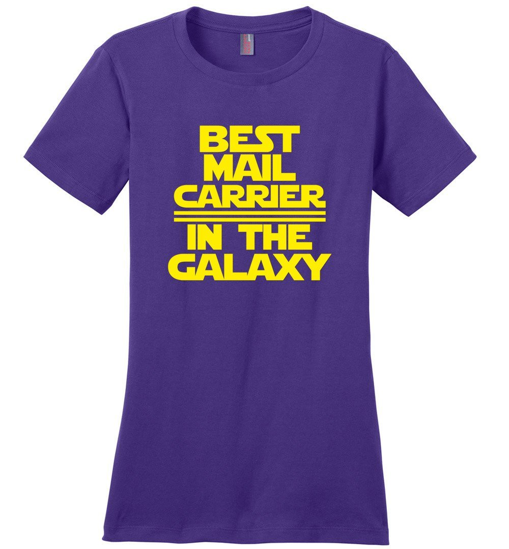 Postal Worker Tees Women's Purple / S Best Mail Carrier in the Galaxy Women's Tshirt