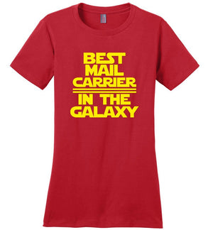Postal Worker Tees Women's Red / S Best Mail Carrier in the Galaxy Women's Tshirt