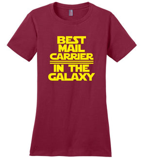 Postal Worker Tees Women's Sangria / S Best Mail Carrier in the Galaxy Women's Tshirt