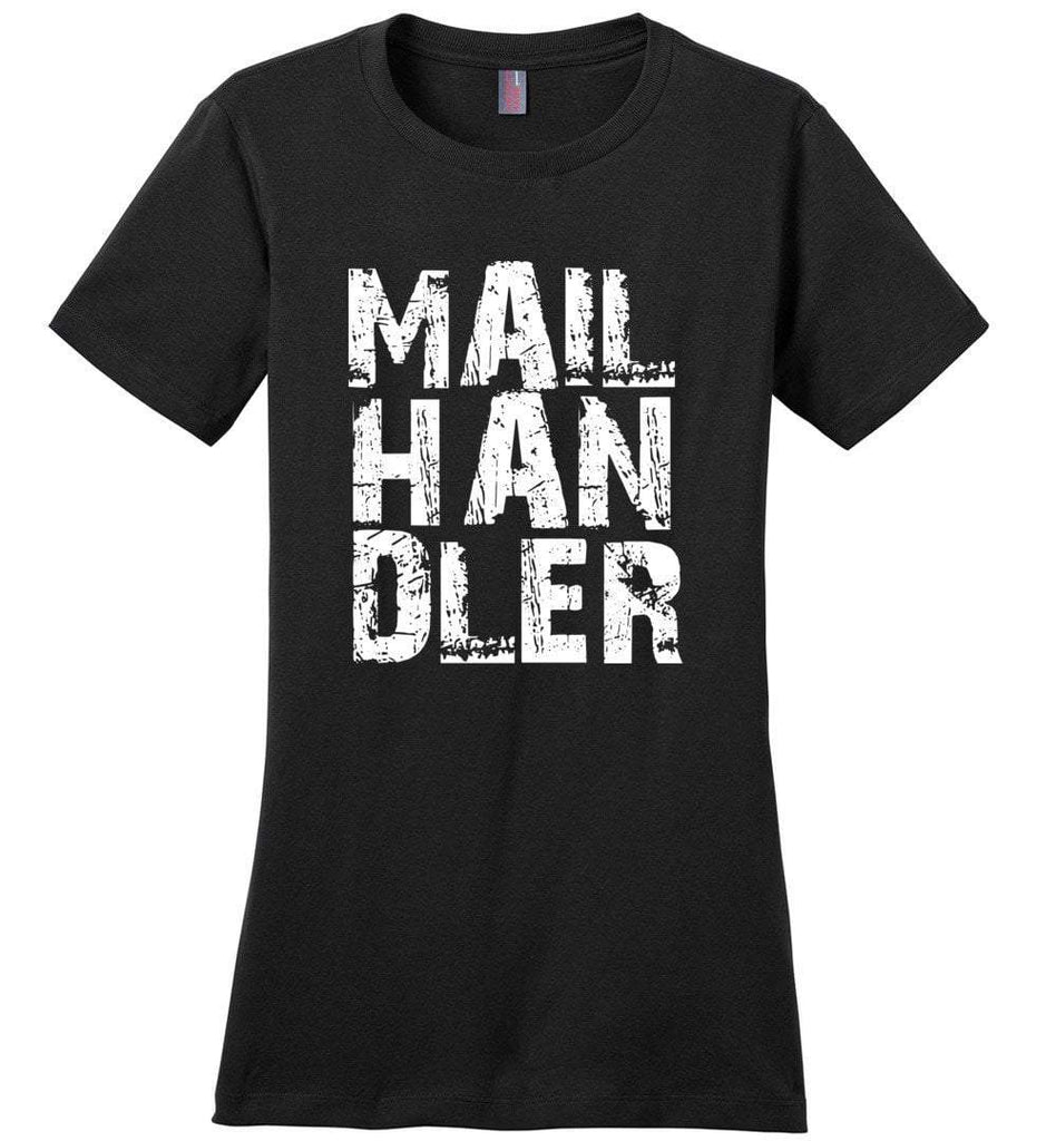Postal Worker Tees Women's Black / S Big Letter Mail Handler Women's Tshirt