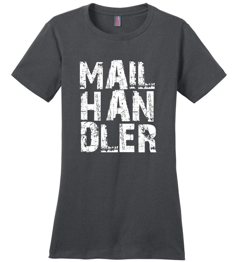 Postal Worker Tees Women's Charcoal / S Big Letter Mail Handler Women's Tshirt