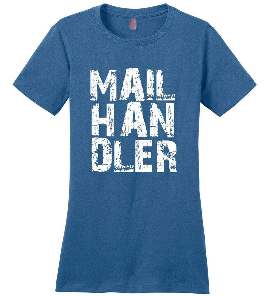 Postal Worker Tees Women's Maritime Blue / S Big Letter Mail Handler Women's Tshirt