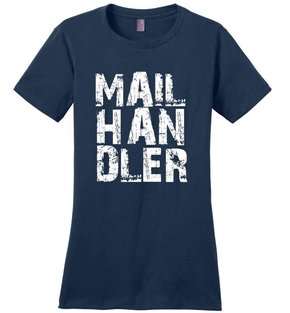 Postal Worker Tees Women's Navy / S Big Letter Mail Handler Women's Tshirt