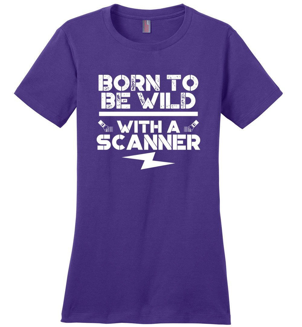 Postal Worker Tees Women's Purple / S Born to be wild - With a scanner Women's Tshirt