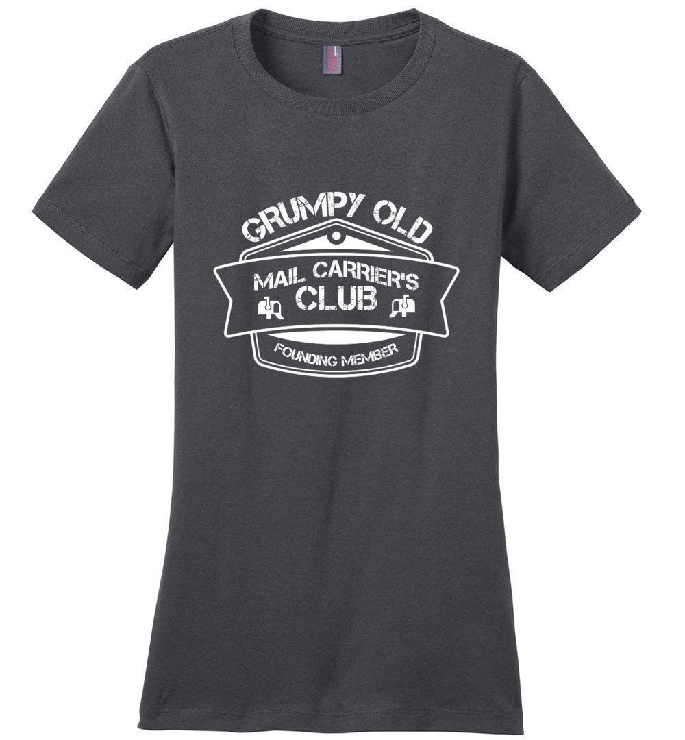 Postal Worker Tees Women's Charcoal / S Grumpy old mail carriers club Women's Tshirt