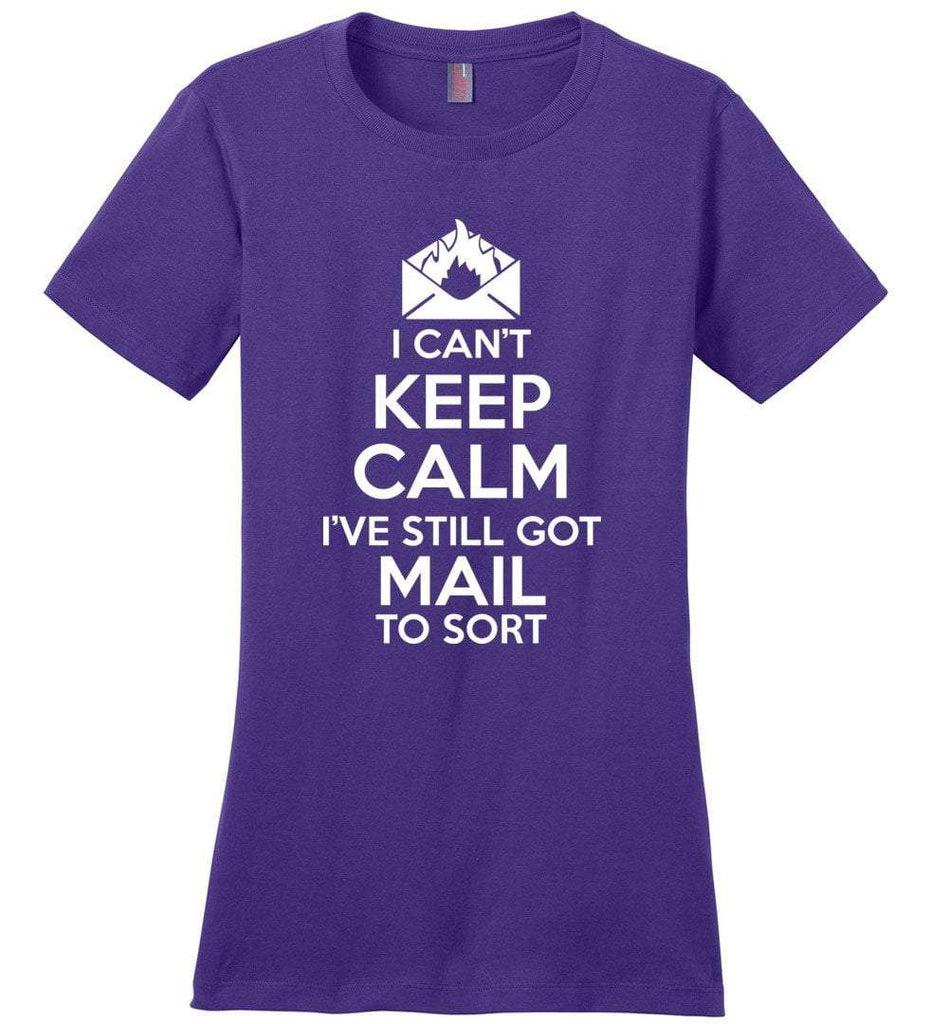Postal Worker Tees Women's Purple / S I can't keep calm, I've got mail to sort Women's Tshirt