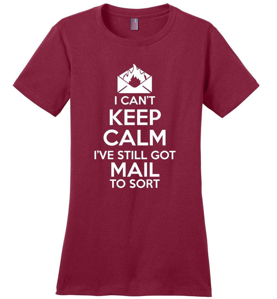 Postal Worker Tees Women's Sangria / S I can't keep calm, I've got mail to sort Women's Tshirt