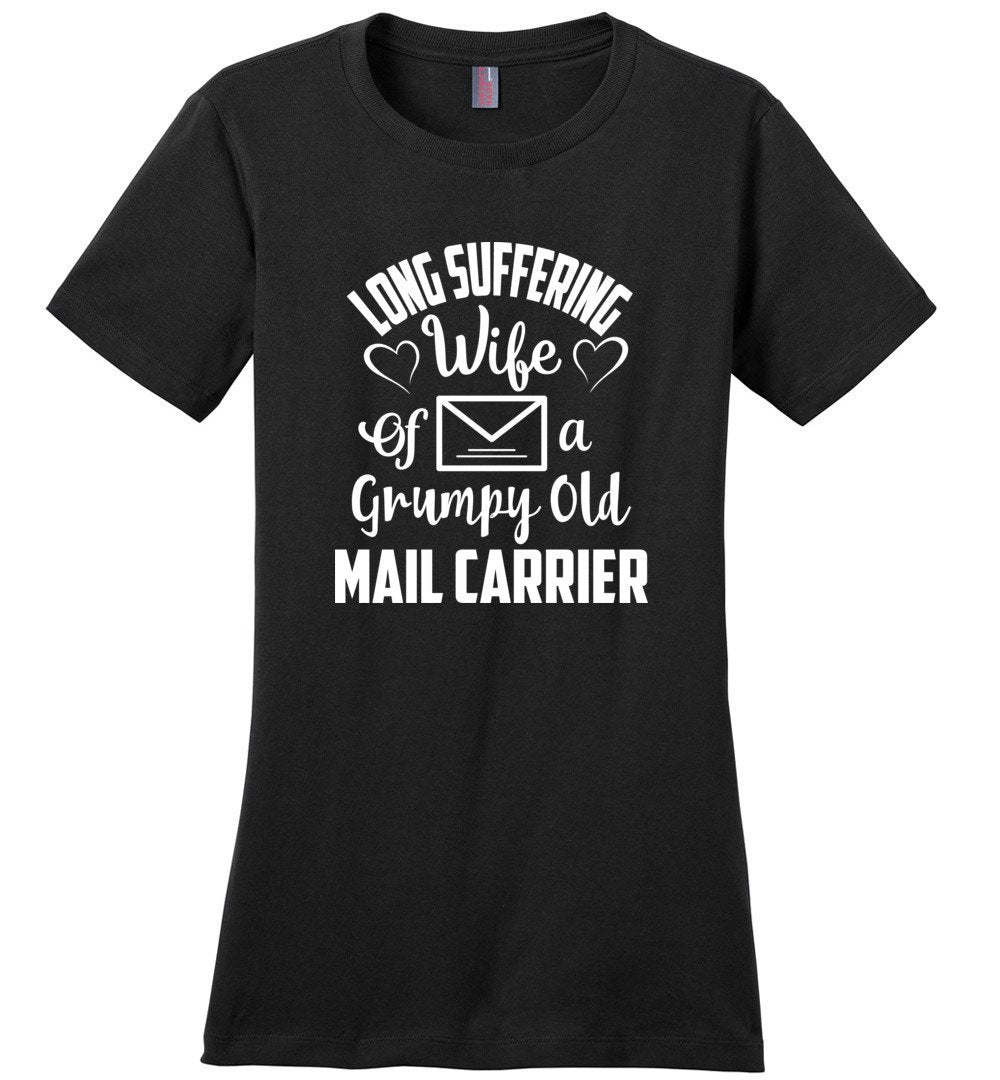 Postal Worker Tees Women's Black / S Long suffering wife Women's Tshirt