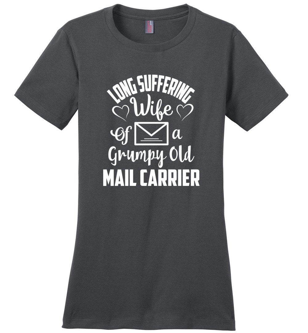 Postal Worker Tees Women's Charcoal / S Long suffering wife Women's Tshirt