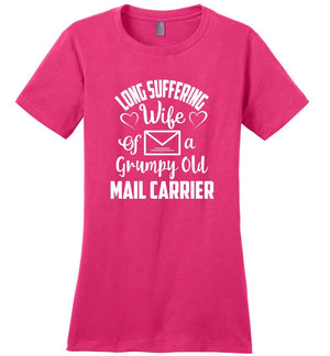 Postal Worker Tees Women's Dark Fuchsia / S Long suffering wife Women's Tshirt