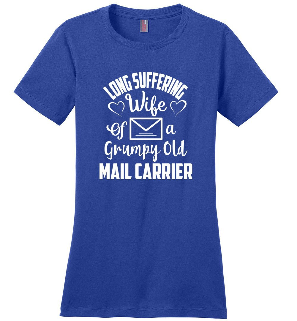 Postal Worker Tees Women's Deep Royal / S Long suffering wife Women's Tshirt