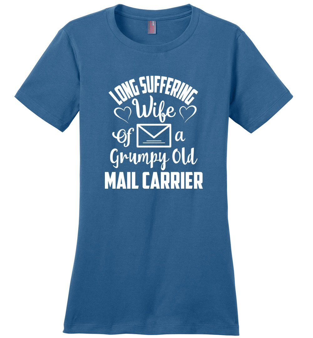 Postal Worker Tees Women's Maritime Blue / S Long suffering wife Women's Tshirt