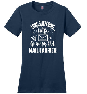 Postal Worker Tees Women's Navy / S Long suffering wife Women's Tshirt