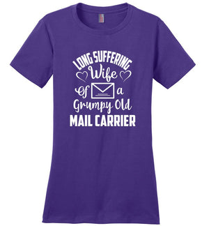 Postal Worker Tees Women's Purple / S Long suffering wife Women's Tshirt