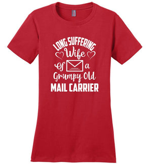 Postal Worker Tees Women's Red / S Long suffering wife Women's Tshirt