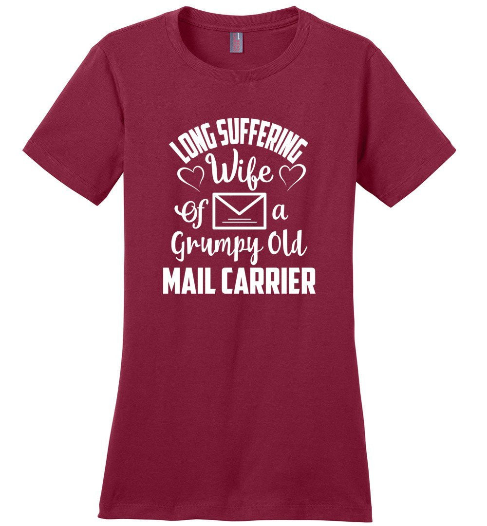 Postal Worker Tees Women's Sangria / S Long suffering wife Women's Tshirt