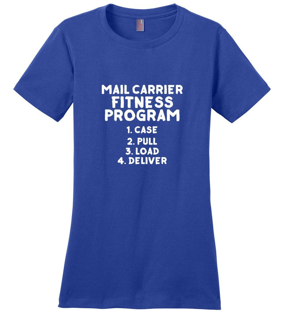 Postal Worker Tees Women's Deep Royal / S Mail Carrier Fitness program Women's Tshirt