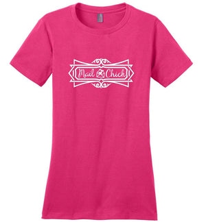 Postal Worker Tees Women's Dark Fuchsia / S Mail Chick with letter Women's Tshirt