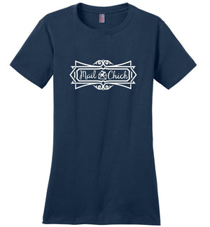 Postal Worker Tees Women's Navy / S Mail Chick with letter Women's Tshirt