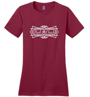 Postal Worker Tees Women's Sangria / S Mail Chick with letter Women's Tshirt
